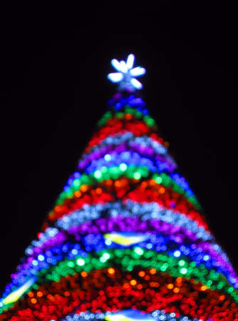 abstract christmas triangle tree, power illumination diversity photo