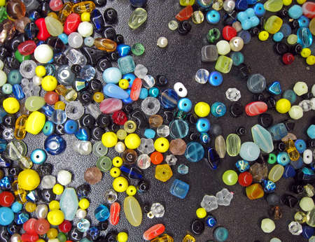 abstract button heap, rainbow stone beads diversity photo