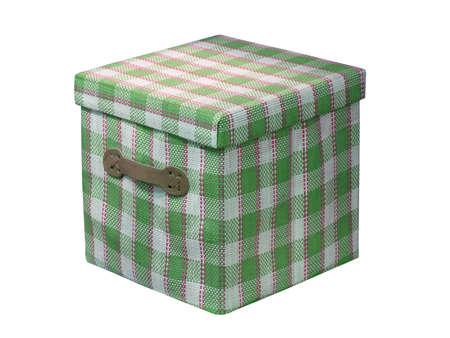 one cube green box isolated on white background. new package container Stock Photo - 12370836