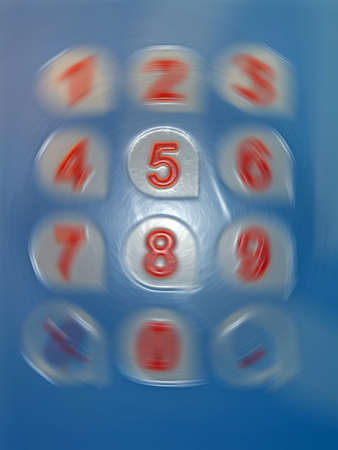 teclado numerico: cinco el número de rotación, los modernos detalles del huracán digitales