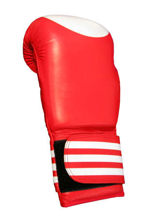 leathern: sport colorful acessory for boxer isolated on white background Editorial