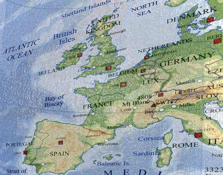 europe map, travel details photo