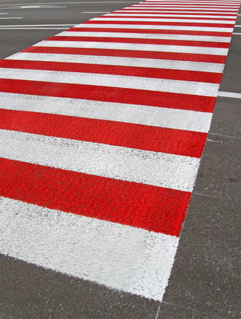 abstract striped pedestrian place, new road details Stock Photo - 12685299