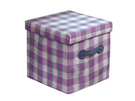 one cube violet box isolated on white background  new package container Stock Photo - 12795804