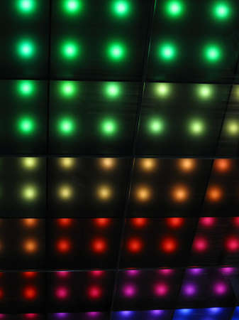 abstract disco rainbow lamps heap, modern entertainment details photo