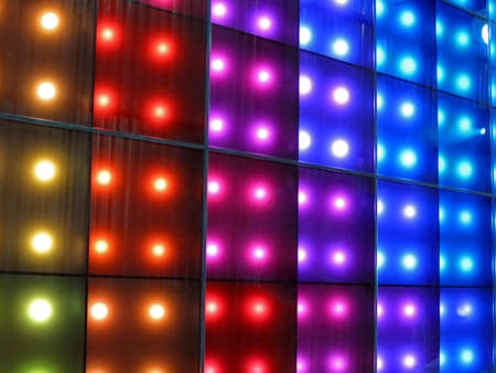 abstract disco rainbow lamps heap, modern entertainment details Stock Photo - 12831673