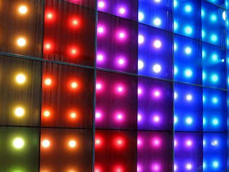 abstract disco rainbow lamps heap, modern entertainment details photo