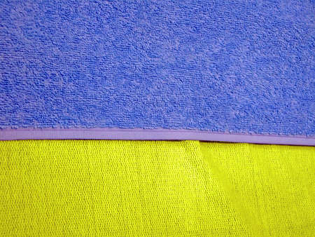 blue and yellow color fabric towel, ukraine country flag Stock Photo - 12831901