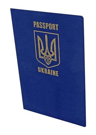 documento alterado pasaporte ucraniano para viajar aisladas sobre fondo blanco concepto nuevo viaje en todo el mundo, Ucrania Foto de archivo - 12833118