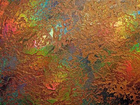 desigualdad: centrarse en el centro. abstracto arco iris, fondo de oro de aleaci�n, el nuevo Primer plano de textura de superficie de metales