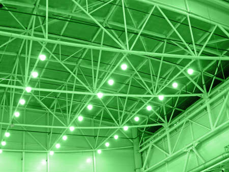 green interior warehouse lighting  industrial bulb lamp illumination photo