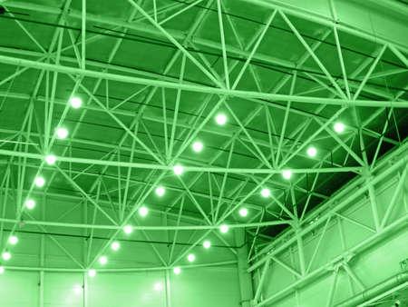 green interior warehouse lighting  industrial bulb lamp illumination