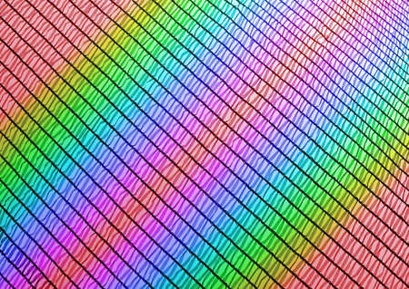 abstract rainbow industrial grid, industry texture closeup Stock Photo - 13591492