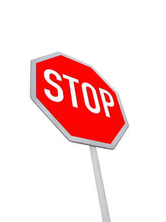 best security: stop road sign  red color  isolated in white background  See on sign before moving - your security in your hands  carefully read and understand the road sign - the best way to reduce unexpected road incident  New abstract security transportation concept