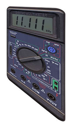 single new black color digital multimeter with switch for electronic test Stock Photo - 13785884