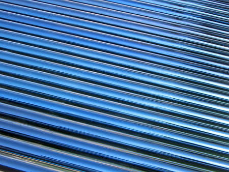 abstract blue glass tube heap, new solar panel details photo