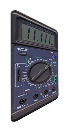 Black color digital multimeter photo