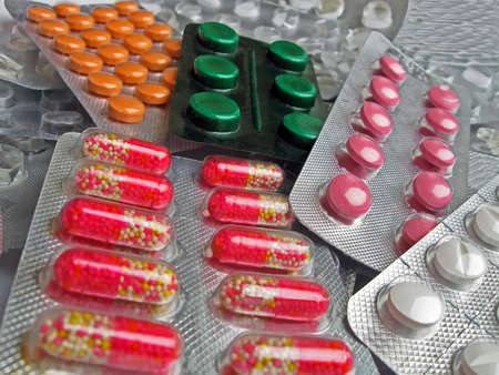 new medical antibiotics heap, aspirin pack diversity