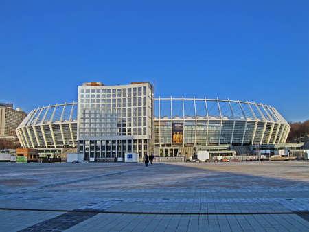 KIEV, UKRAINE - MARCH 20: Renewed Olympic Sport Stadium on March 20, 2012 in Kiev, UKRAINE. National Sport complex Olimpiysky selected as stadium for final EURO 2012 football championship in Ukraine. Stock Photo - 14136582
