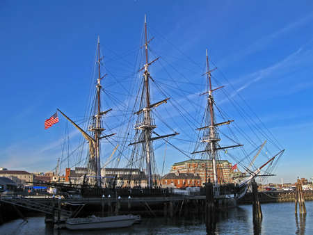 BOSTON - APRIL 21: The USS Constitution is the world