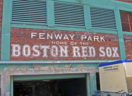 BOSTON - APR 20: Fenway Park on April 20, 2012 in Boston, USA. Fenway Park is the oldest professional sports venue in the United States celebrating its 100th anniversary since its foundation.