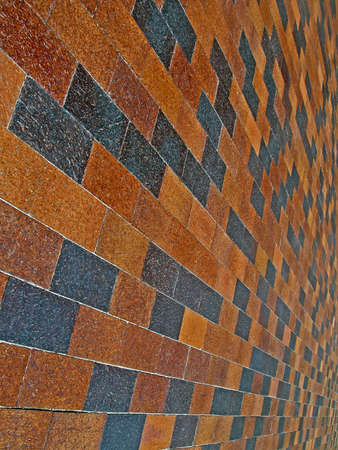 abstract vintage red brick wall, architecture details photo