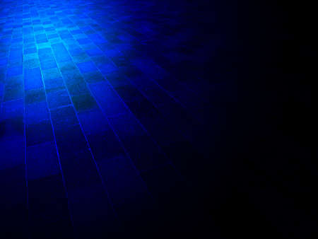 magic blue light over abstract vintage brick wall, architecture details photo