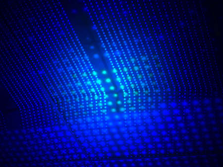 abstract blue light over lamp heap surface, science details photo