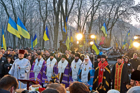 KIEV - NOV 24: 79th anniversary of Holodomor marks in Kiev, Ukraine on November 24, 2012. Holodomor - Josef Stalin-ordered famine that killed millions of Ukrainians in 1932-33. Stock Photo - 16558472