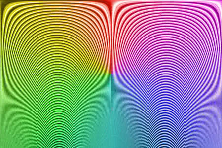 abstract rainbow unknown fingerprint, curved line heap details photo