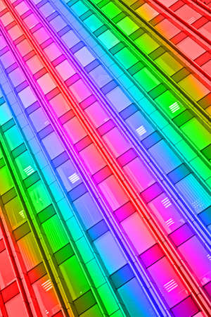 rainbow interior, abstract disco details photo