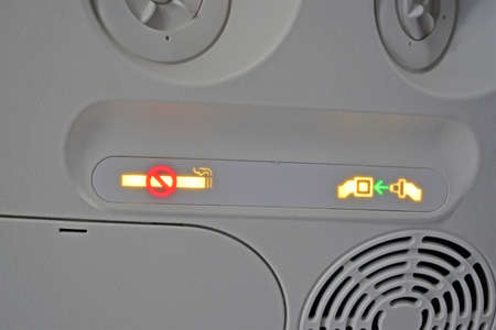 airplane security panel, travel industry details photo
