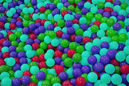 abound: plastic ball diversity, entertainment details Stock Photo