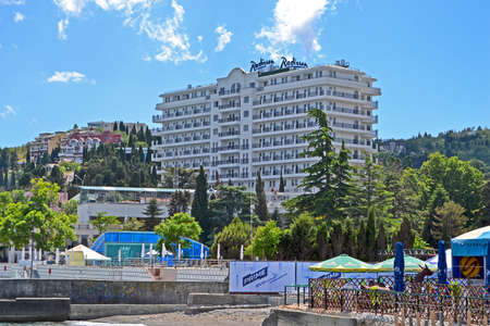 diversity of the region: ALUSHTA, UKRAINE - JUN 01: newly constructed Radisson Blue Hotel near Black Sea in Alushta, Ukraine on June 01, 2013. Hotel has 146 new suites ready for tourists. Alushta is famous Crimean resort. City was found in 6th century by Emperor Justinian. More 6 Editorial