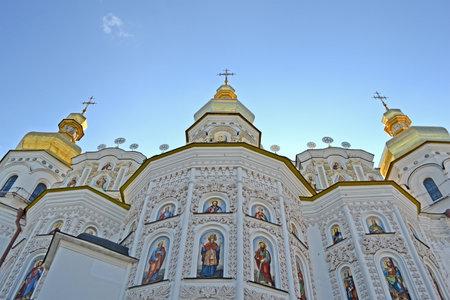 baptized: KIEV, UKRAINE - JUL 25  Kiev-Pechersk Lavra dome on blue sky on July 25, 2013 in Kiev, Ukraine  Kiev celebrates 1025th anniversary of Kyivan Rus Christianity on July 26-28, 2013