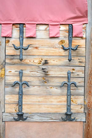 vintage wooden window, vintage construction details photo
