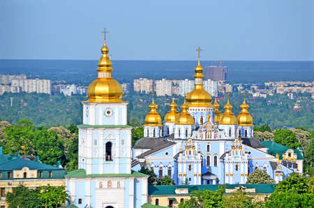 newly rebuilt St. Michaels Golden-Domed Monastery in Kiev, Ukraine. 版權商用圖片