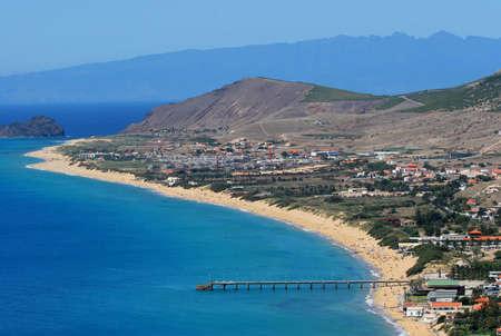 Porto Santo Beach Aerial view