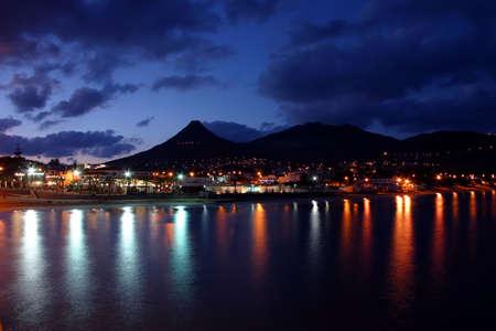 santo: Porto Santo Night Stock Photo