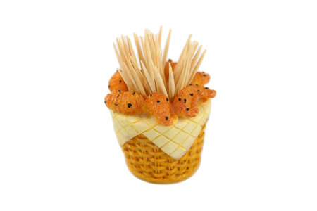 toothpick: toothpick holder Stock Photo