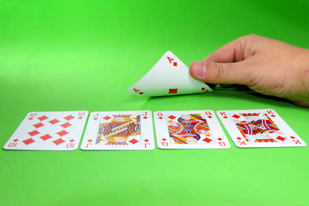dealt: turning a card to find a royal stright flush
