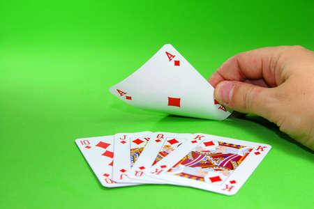 dealt: turning a card to find a royal straight flush