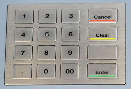 teclado num�rico: atm teclado num�rico con teclas de color