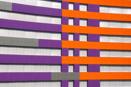 purple and orange office building photo