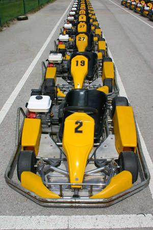 carting: parked karts