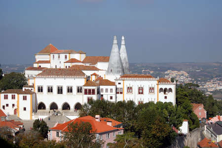sintra: national palace in sintra Stock Photo