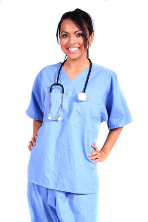 cna: Cute Donna Infermiere, Medico, Medicina dei lavoratori per ogni medico generico impostazione  Archivio Fotografico