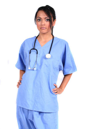 Cute Female Nurse, Doctor, Medical Worker for any generic medical setting Stock Photo - 660023