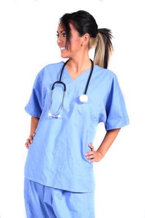 lpn: Cute Female Nurse, Doctor, Medical Worker for any generic medical setting