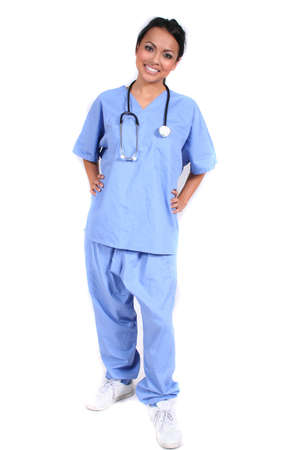 Cute Female Nurse, Doctor, Medical Worker for any generic medical setting Stock Photo - 660021